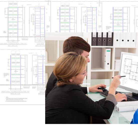 3D CAD Warehouse Storage Design Services