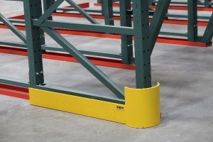 pallet rack row end guard