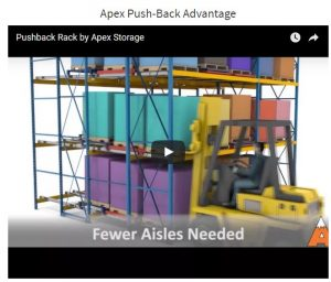 Apex Warehouse Systems Push-Back Storage Rack