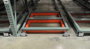 push-back carts Apex Warehouse Systems