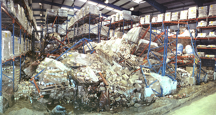Pallet Rack Collapse is Preventable - Call Apex Warehouse Systems