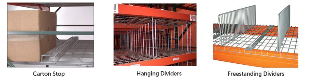 Wire Deck Accessories - Apex Warehouse Systems
