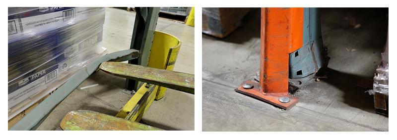pallet rack forklift damage