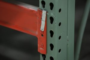 Damaged Pallet Rack Pin -Apex Warehouse Systems