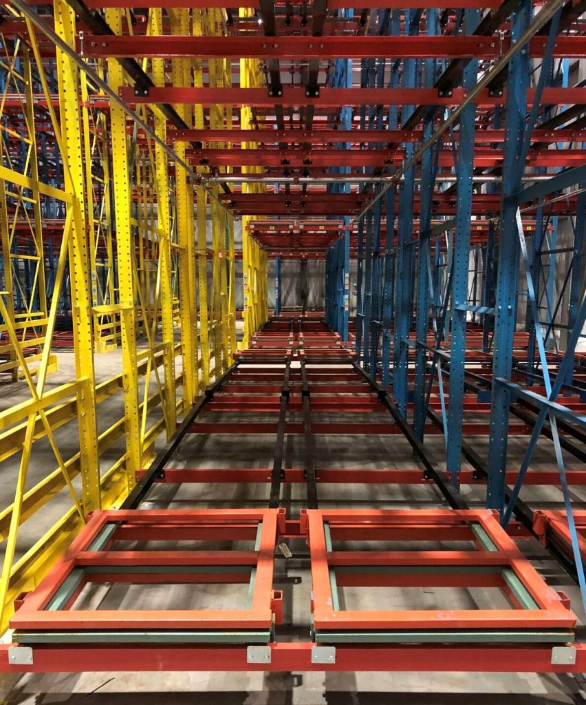 Push-Back Pallet Rack Apex Warehouse Systems