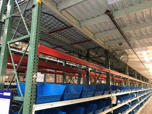 Safety Netting with bin storage - Apex Warehouse Systems