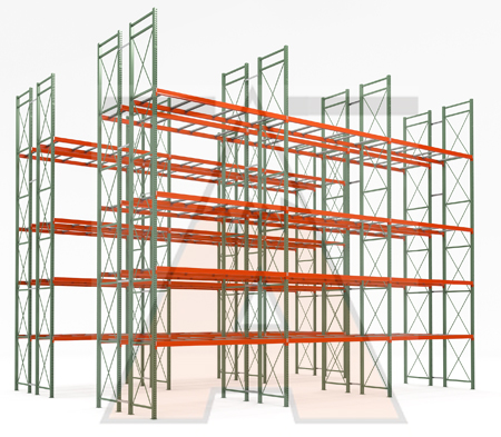Apex Selective Pallet Rack Illustration