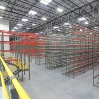 Warehouse mezzanine and industrial racks
