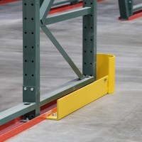 Industrial warehouse shelving floor guard