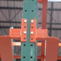 Industrial warehouse drive-in rails for shelving system