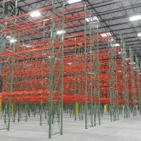 Warehouse selective pallet rack solution