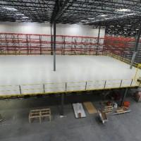 Warehouse mezzanine and shelving system