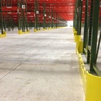 Industrial shelving row end guards