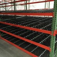 Warehouse shelving carton flow rack