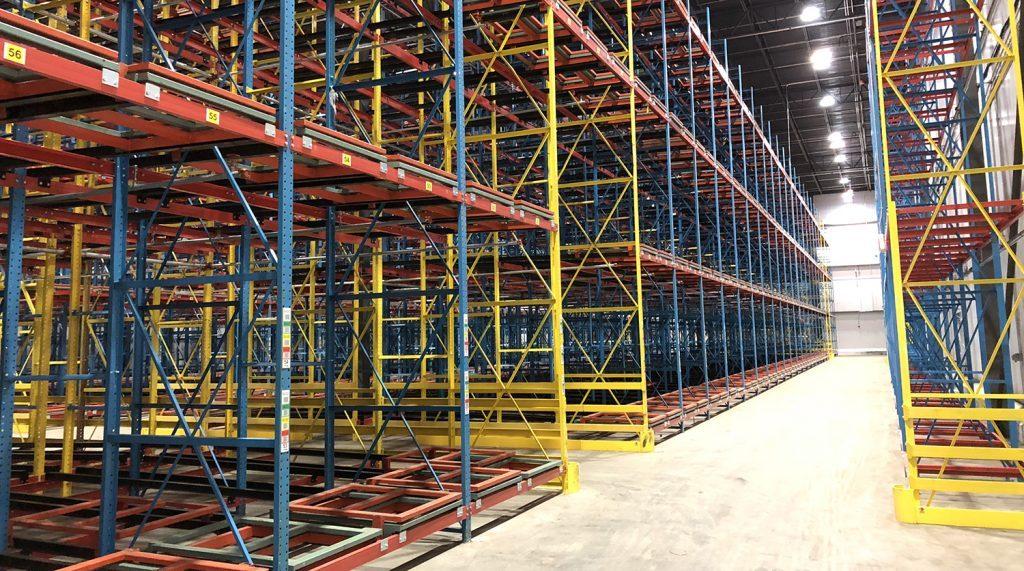 Push-Back Pallet Rack - Apex Companies