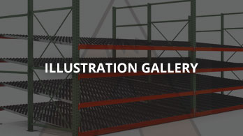 Apex Carton Flow Rack Illustration Gallery