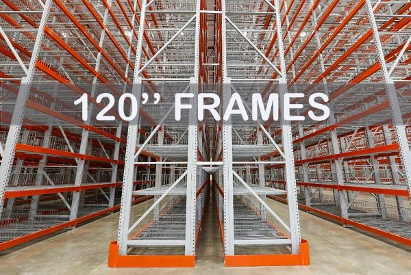 """Pallet Rack Upright Frame 120""""   Apex Cos."""