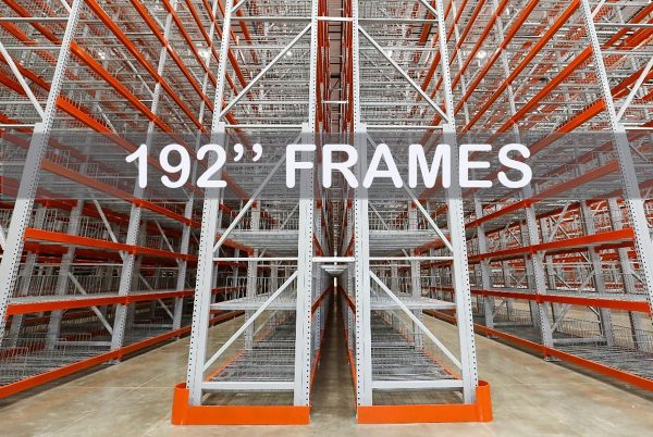 "Pallet Rack Upright Frames - 192"" - Apex Companies"