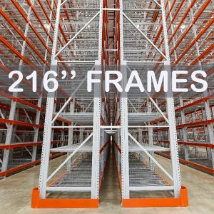 "Pallet Rack Upright Frame - 216"" - Apex Companies"