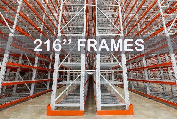 "Pallet Rack Upright Frame - 216"" - Apex Companies"