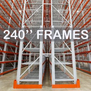 "Pallet Rack Upright Frame - 240"" - Apex Companies"