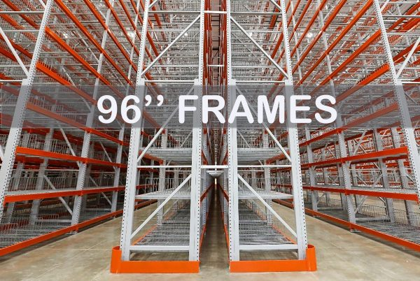 """96"""" Roll-Formed Upright Frame - Apex Companies"""