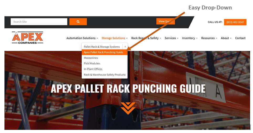 Pallet Rack Punching Guide - Apex Cos.