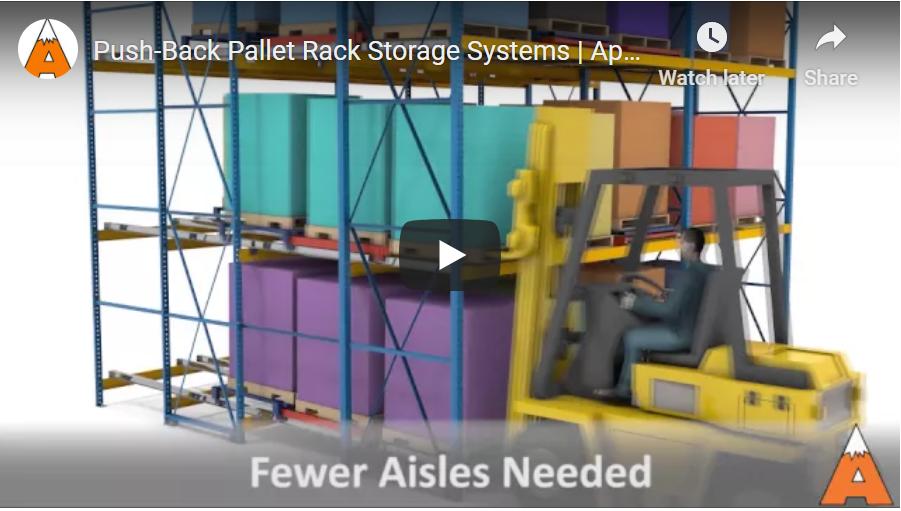 Push-Back Pallet Rack - Apex Cos.