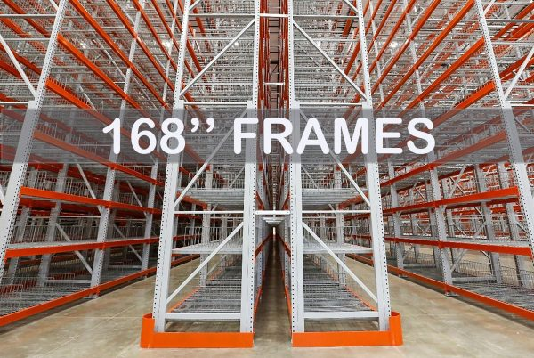 "Pallet Rack Upright Frame - 168"" - Apex Companies"